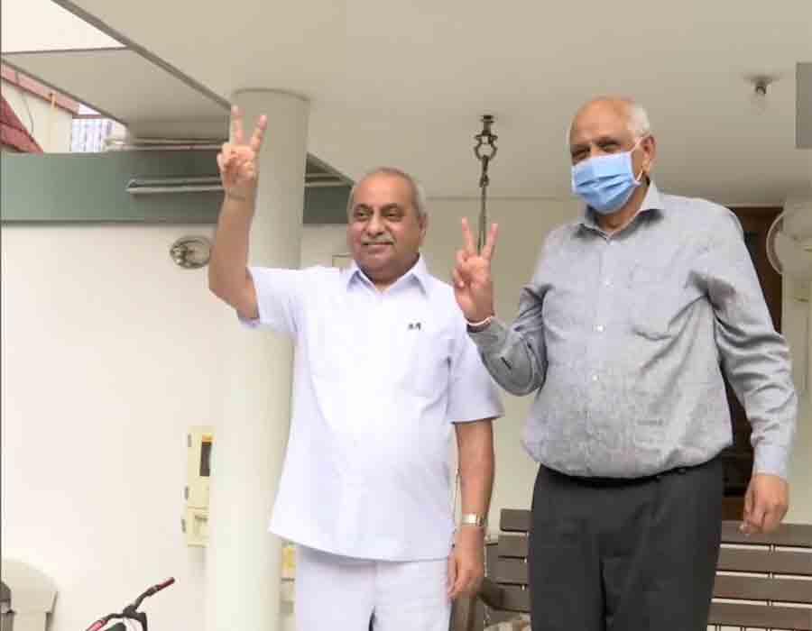 Guj CM-designate Bhupendra Patel meets Nitin Patel