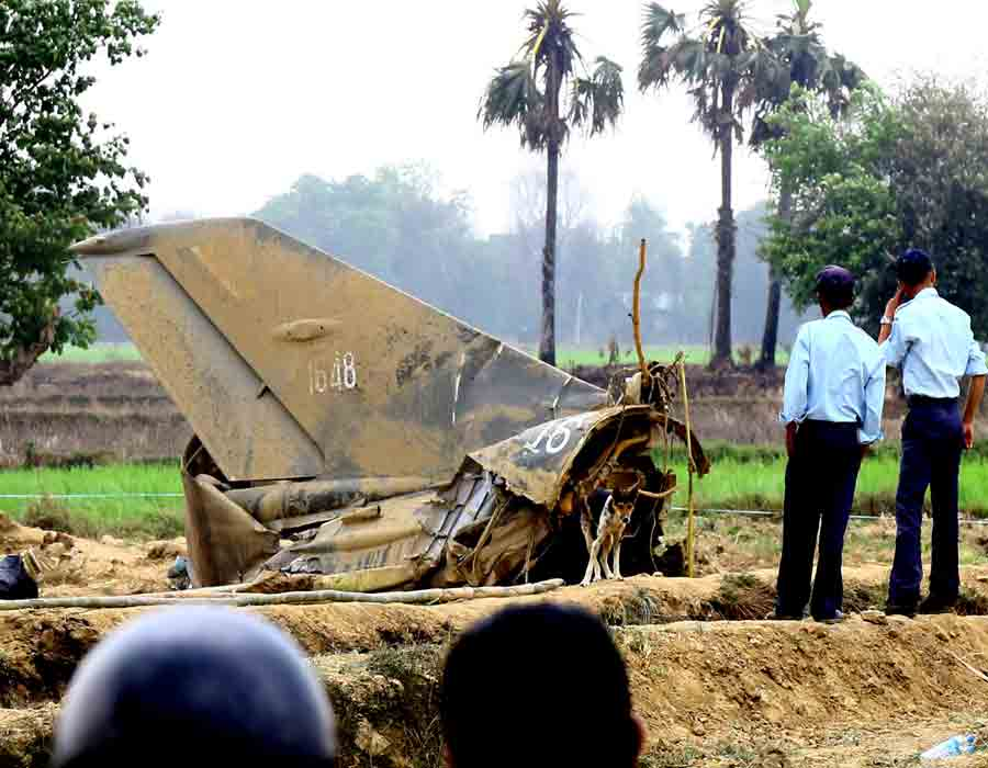 Military plane crashes in Myanmar