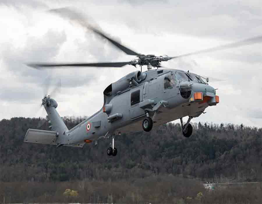 US Navy hands over MH-60R maritime helicopters to India